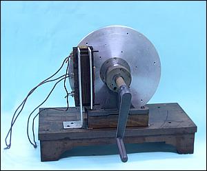 um aparelho para demonstrar a existência das correntes de Foucalt