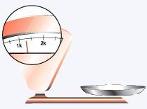balança com mostrador de ponteiro
