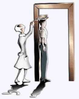 medindo altura de uma pessoa