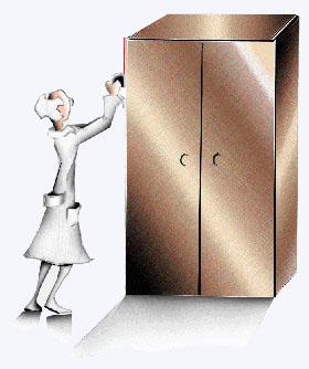 medindo um armário
