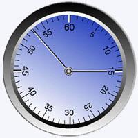 relógio com divisão em minutos