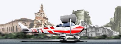 Avião acelerando para decolagem