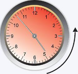 Medida de Ângulos através dos ponteiros do relógio