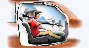 colisões no trânsito