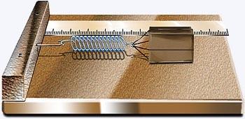sistema massa-mola na horizontal com diferentes distensões e massas