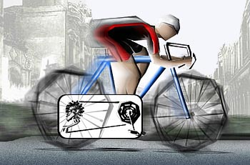 ciclista pedalando a bicicleta