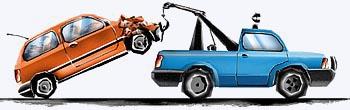 o guincho utiliza uma roldana para levantar um carro