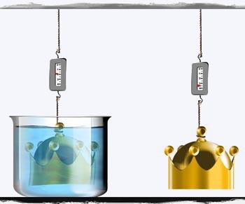 método de medir a densidade dos sólidos por imersão em água