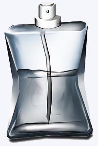 vidro de spray com gás para expelir o liquído
